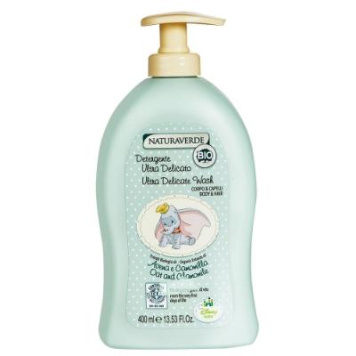 自然之綠 頂級呵護系列-小飛象洋甘菊舒敏雙效洗髮沐浴露400ml
