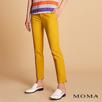 MOMA 錦棉織帶反折褲
