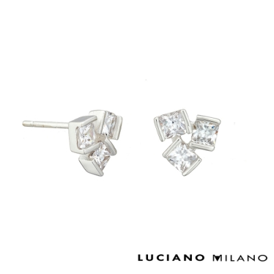 LUCIANO MILANO 緊密純銀耳環
