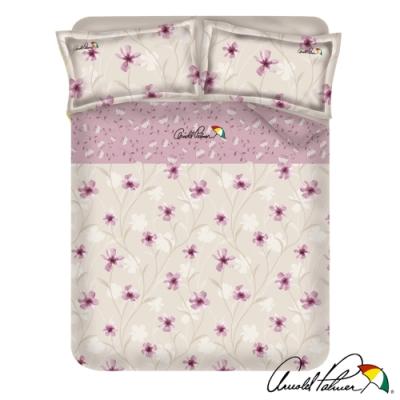 Arnold Palmer雨傘牌 紫光花曲-台製40紗精梳棉床包枕套雙人加大三件組