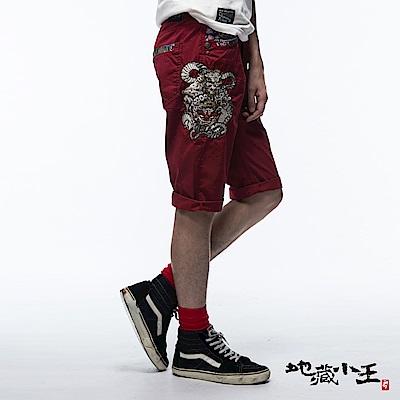 地藏小王 BLUE WAY 唐獅子化龍短褲(紅色)