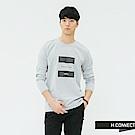 H:CONNECT 韓國品牌 男裝-簡約印字長袖上衣-藍