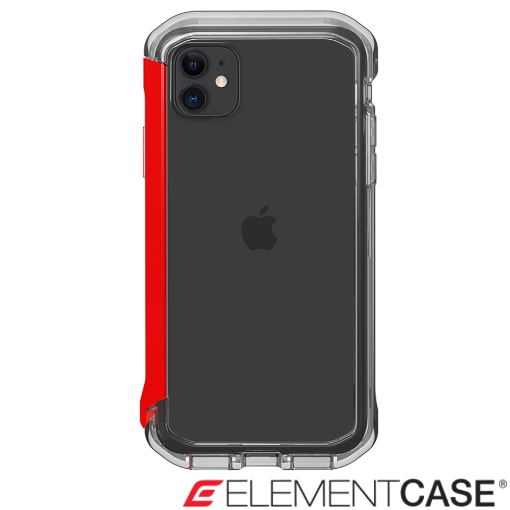 美國 Element Case iPhone 11 Rail 神盾軍規殼 - 晶透紅