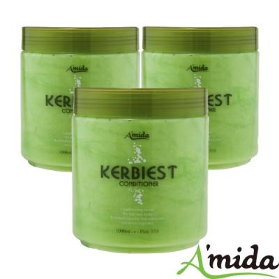 [時時樂限定] Amida 蜜拉葉綠素頭皮髮調理護髮素全家組(1000ml*3)