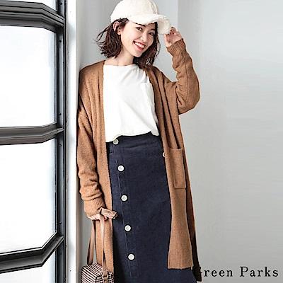 Green Parks 柔暖針織長版開襟罩衫