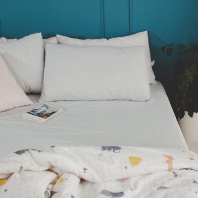 絲薇諾 MIT精梳純棉 琉璃藍 雙人5尺三件式-床包枕套組