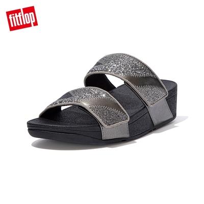 FitFlop MINA OMBRE GLITTER SLIDES 經典雙帶涼鞋-女(錫灰色)