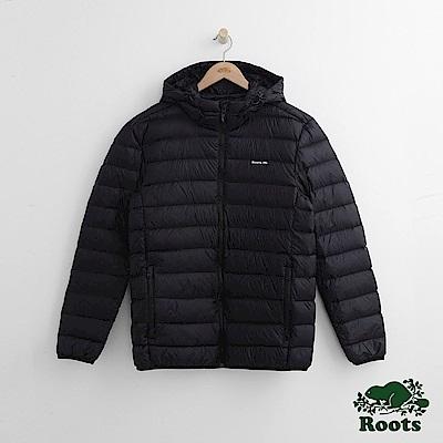 Roots 男裝-經典收納式羽絨外套-黑色