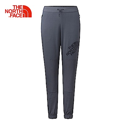 The North Face北面女款灰色吸濕排汗磨毛休閒長褲 3GJJ0C5