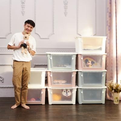 【ikloo】大空間粉漾收納箱(6入)
