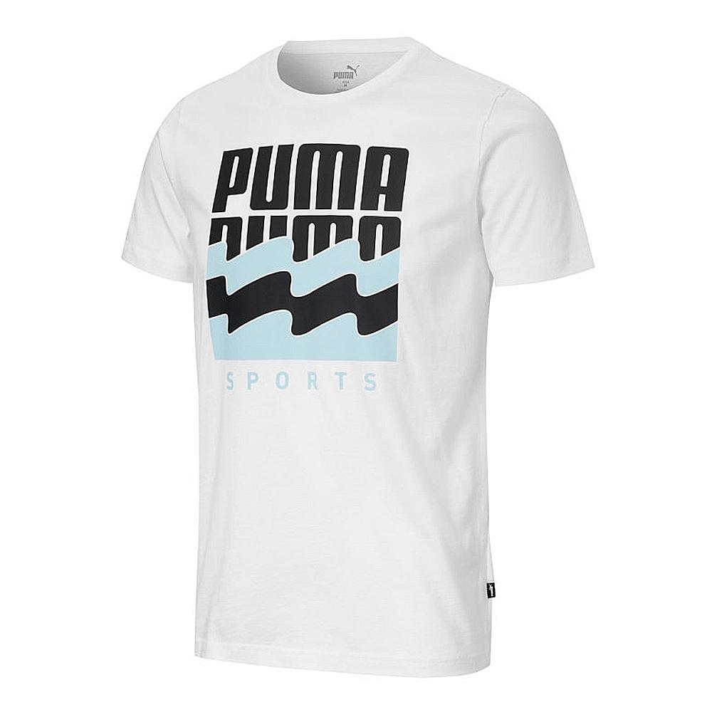 PUMA 基本系列  波浪圖樣  男短袖T恤-白-58387502