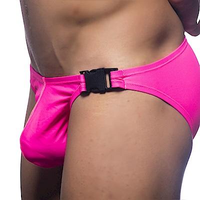 美國Andrew Christian 扣帶桃粉三角泳褲