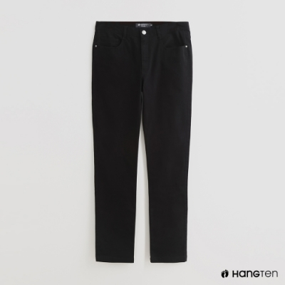 Hang Ten - 男裝 - 純色雙口袋休閒長褲 - 黑