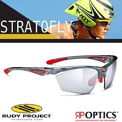 Rudy Project STRATOFLY 抗紫外線鍍銀運動眼鏡_半透灰框+黑色鍍銀片
