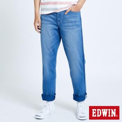 EDWIN JERSEYS 迦績 EJ6 側條棉感AB牛仔褲-男-拔洗藍