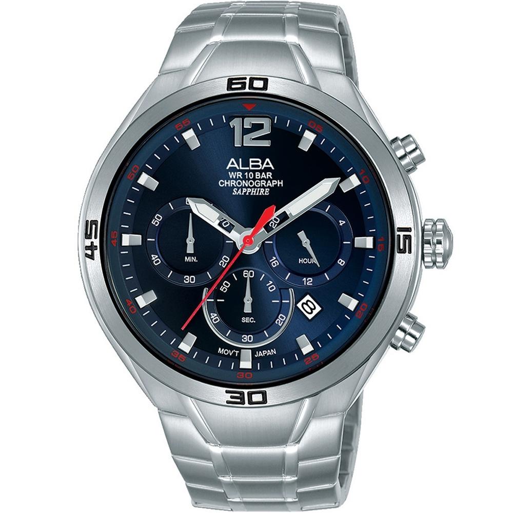 ALBA 雅柏 運動風計時男錶(AT3G37X1)VD53-X353B