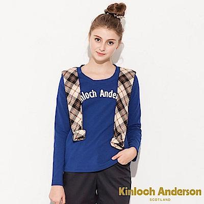 Kinloch Anderson 金安德森女裝 剪接格布前印花上衣 @ Y!購物