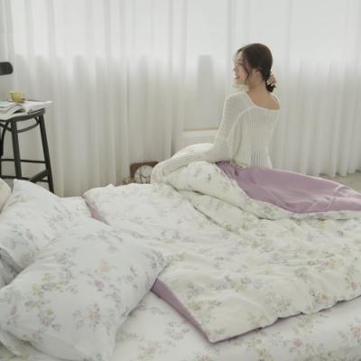 BUHO 台製300織100%TENCEL純天絲床包被套四件組-雙人(淡香入夢)