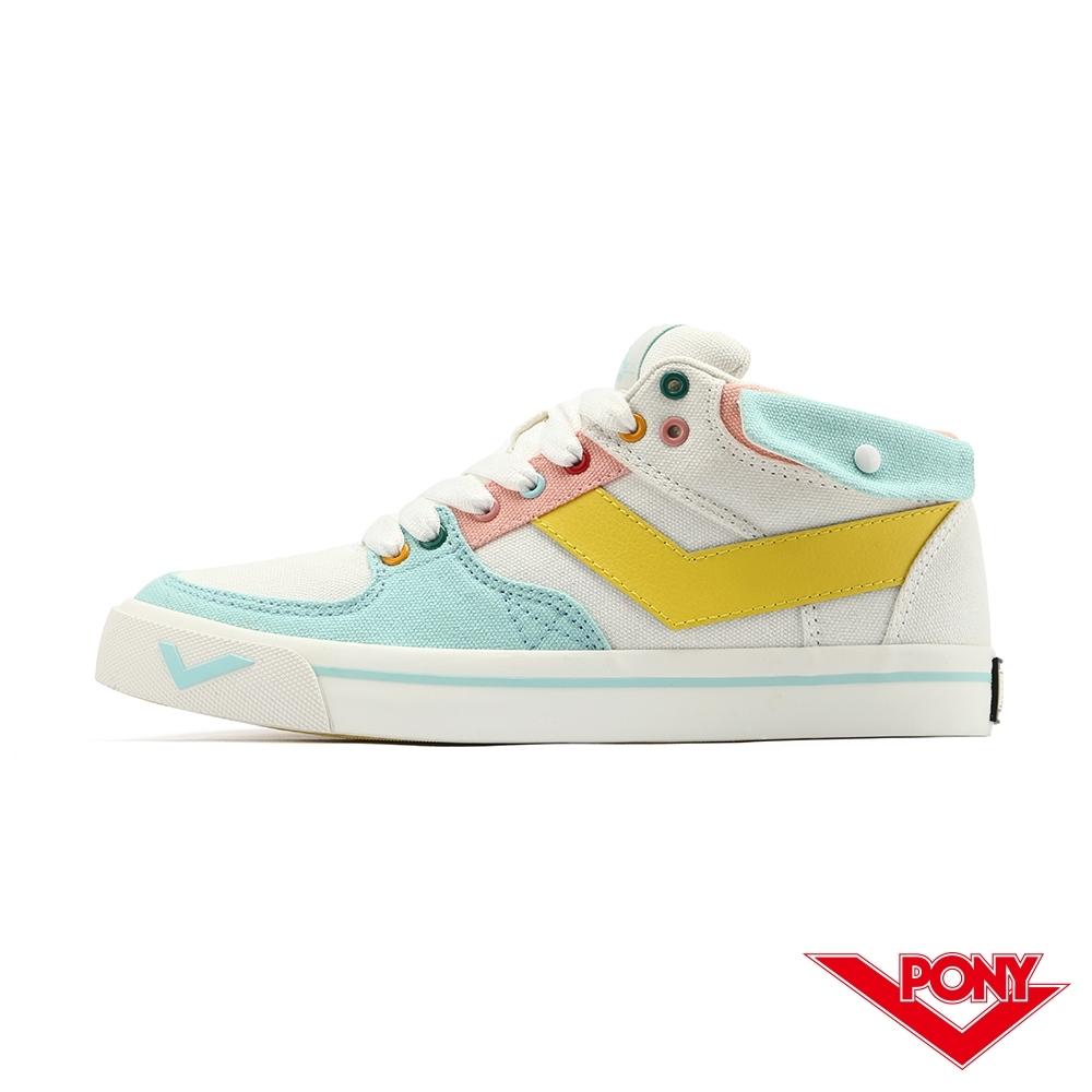 【PONY】ATOP系列 潮流玩色 滑板鞋  板鞋 休閒鞋 女鞋-藍黃