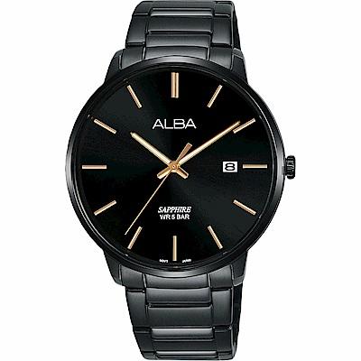 ALBA 雅柏 城市情人時尚手錶(AS9H35X1)-黑/40mm
