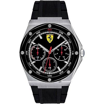 Scuderia Ferrari 法拉利 奔馳日曆手錶(FA0830537)-黑x42mm