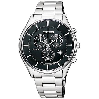 CITIZEN星辰 光動能(AT2360-59E)競速計時男錶 黑/40mm