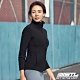 STL yoga FleeceMonoJacket 韓國運動機能 羔羊毛合身 發熱保暖 拉鍊立領外套 黑Black product thumbnail 1