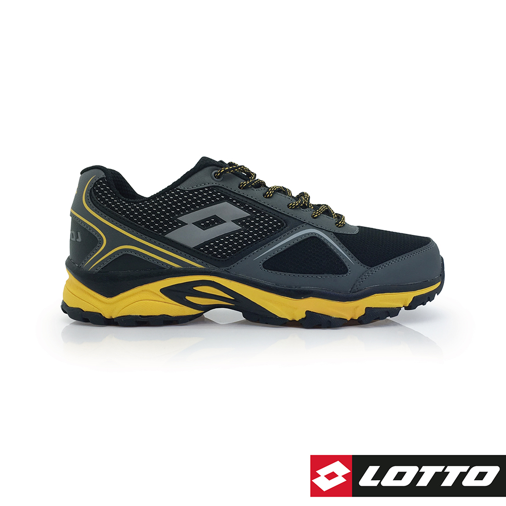 LOTTO 義大利 男 CROSS RUN 越野跑鞋 (黑/黃)