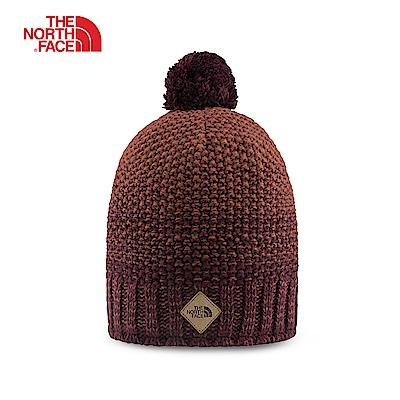 The North Face北面男女款棕紅色休閒毛帽 3FIB6HY
