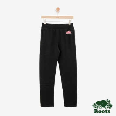 ROOTS女裝 -雪尼爾刷毛休閒棉褲-黑