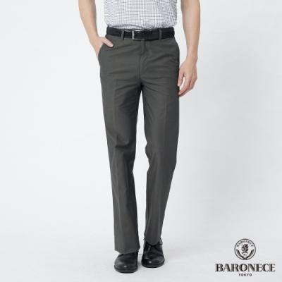 BARONECE 百諾禮士休閒商務  男裝 純棉組織平口休閒長褲--橄欖綠色(1188885-47)