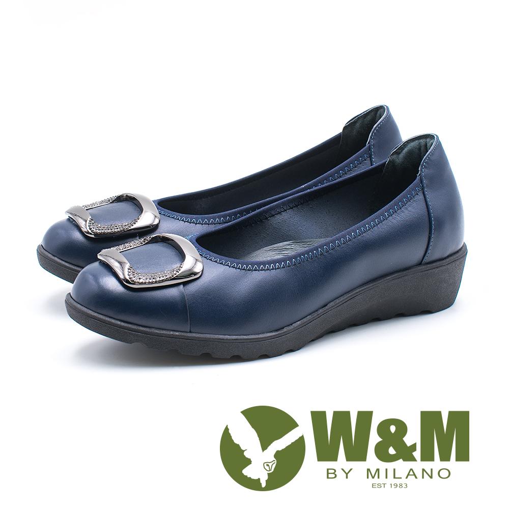 W&M 方扣厚底娃娃鞋 女鞋-藍(另有黑)