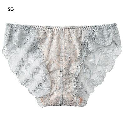 aimerfeel 蕾絲無痕內褲-銀灰色-170721-SG