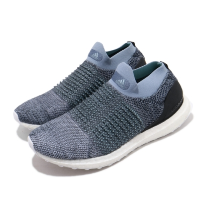 adidas 慢跑鞋 ULTRABOOST 襪套 男鞋 海外限定 愛迪達 運動休閒 無鞋帶 灰 藍 CM8271