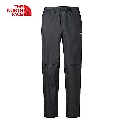 The North Face北面男款黑色防水透氣可打包式長褲 2SLIJK3