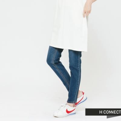 H:CONNECT 韓國品牌 女裝-簡約修身牛仔褲-藍(快)