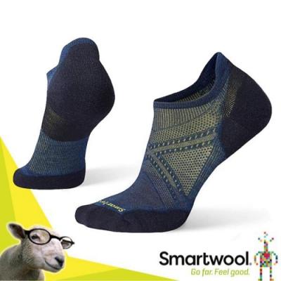 美國 SmartWool 美麗諾羊毛 PhD Run 低筒薄羊毛跑步襪(2入)_靛藍
