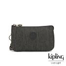 Kipling 復古質感丹寧黑三夾層配件包-CREATIVITY L