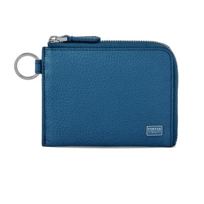 PORTER - 自信魅力REGAL L型卡片零錢包 - 藍
