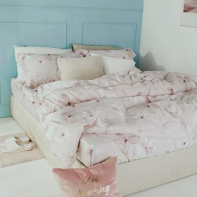 絲薇諾 60支天絲 春絢 加大四件式-薄床包鋪棉被套組