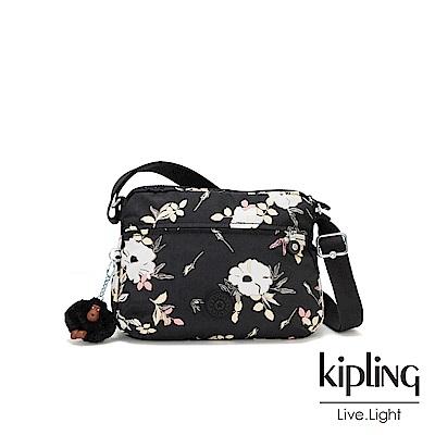 KIpling 浪漫花卉多拉鍊實用側背包-CORA S