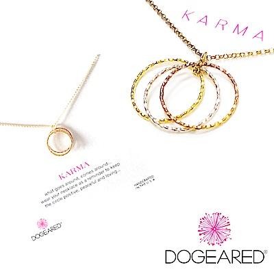 Dogeared Karma 金銀玫瑰金 三色閃亮經典圓環 金色許願項鍊 5號三環戒造型
