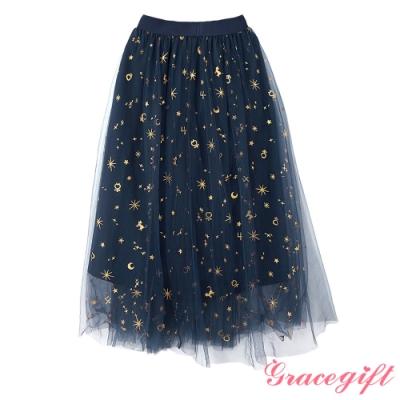 Grace gift-美少女戰士聯名閃耀長紗裙 深藍