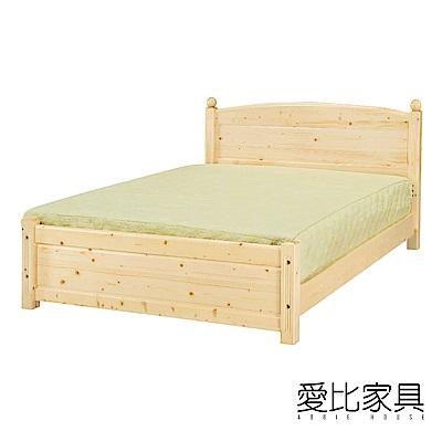 愛比家具 5尺雙人水蜜桃床架-四分床板(不含床墊)