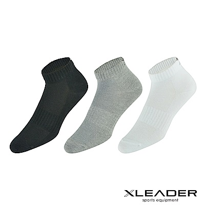 LEADER ST-03經典素色款休閒運動除臭襪短襪 男款 6雙入