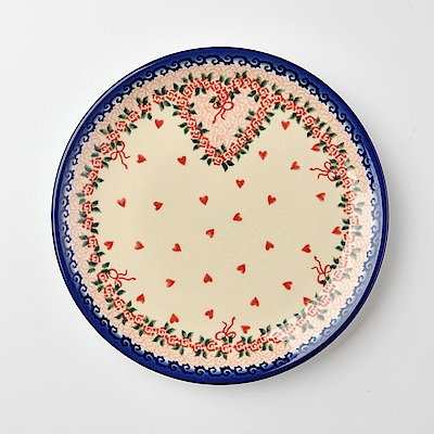 【波蘭陶 Vena】 六月新娘系列 圓形餐盤 19cm 波蘭手工製