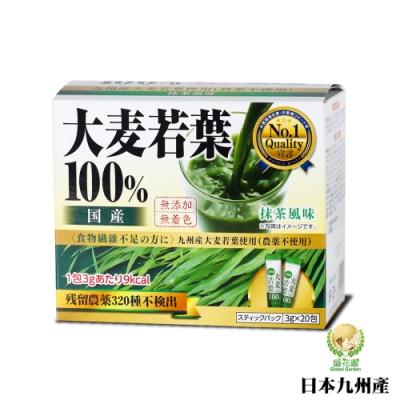 盛花園 日本九州產 100%大麥若葉青汁(20入組)