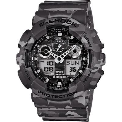CASIO 卡西歐 G-SHOCK 戰地迷彩手錶(GA-100CM-8A)