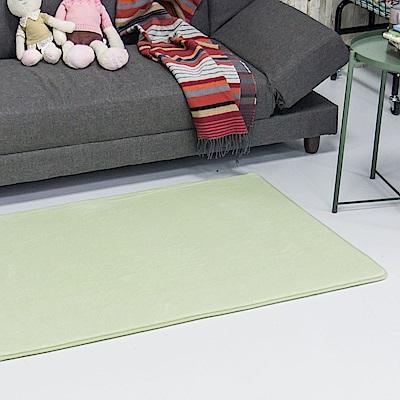 樂嫚妮 慢回彈乳膠底加厚地墊 80X120cm-綠