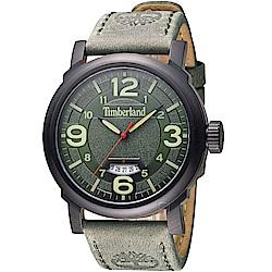 Timberland 城市簡約時尚腕錶-綠/46mm